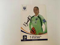 Julia Gornowitz USV Jena Frauen Autogrammkarte mit Unterschrift