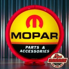 "Mopar Parts Accesories - 13.5"" Glass Advertising Globe -  Made by Pogo's Garage"