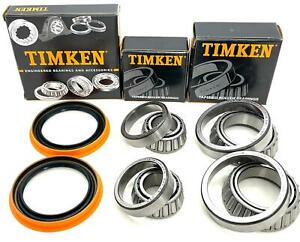 Ford F-150 2wd Front Wheel Bearings and Seal Kit 1997-2003 (2 sides)  TIMKEN USA