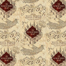 Marauders Map - Harry Potter Cotton Fabric Material