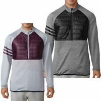 adidas GOLF MENS CLIMAHEAT QUILTED 1/4 ZIP PERFORMANCE JACKET SWEATER 50% OFF