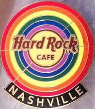 Hard Rock Cafe NASHVILLE 2014 GAY PRIDE PIN Rainbow BULLSEYE & Logo New HRC Bag!
