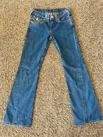 True Religion Jeans Joey Bootcut Flare Girls Blue Size 26x30 Vintage EUC!