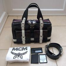 Edición Especial MCM Charol Vintage Medio Bolso De Etiquetas Y Bolsa Para El Polvo Incluido