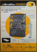 Materiali edili - pubblicità - Rosacometta - Vibroblock 8 - Milano - anni '50