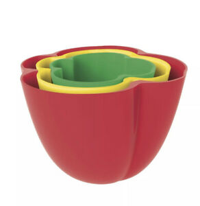 Zak! Designs Pepper 3 Piece Dipping Snack Bowl Melamine Condiment Set Camping!