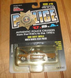 1998 Racing Champions Police USA North Dakota State Police 1960 Impala 1:64