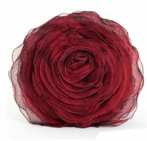 Home Décor Hayley Rose Chiffon Filled Flower Decorative Throw Pillow, 11 Colors