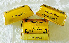 300 GOLD FOIL SCROLL BORDER WEDDING Hershey Nugget WRAPPERS personalized FAVORS