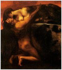 Franz di stucco 12 della bacio alla Sfinge canoni fac simili GATTO femme fatal Villa