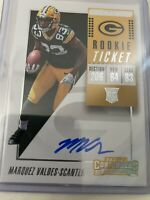 2018 Panini Contenders Rc ROOKIE Auto Marquez Valdes-Scantling GREEN BAY PACKERS