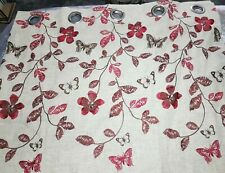 """Coloroll Ready Made,Fully Lined,Eyelet Curtains, Butterflies & Flowers 90"""" x 90"""""""
