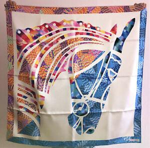 HERMES Marble Silk Robe du Soir scarf carré 90 cm 35 in neuf avec boîte