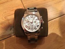 Michael Kors Mercer Chronograph Ladies Watch Silver And Rose Gold