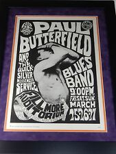 Filmore Auditorium 1967 Framed Family Dog Paul Butterfield Concert Poster