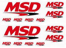 Msd Racing Decals Stickers Sheet of 7 Set of 2 Body Black Window Auto Vinyl