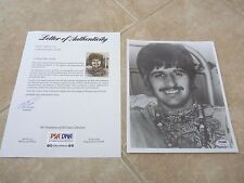 Ringo Star The Beatles Signed Autographed 8x10 Photo PSA Certified