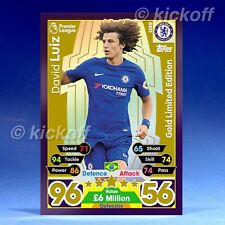 Match Attax 2017-2018: David Luiz GOLD Limited Edition. LE8G. New. Chelsea