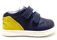 BALDUCCI MSPORT 3353 BLEU scarpe bambino sneakers velcro strappo pelle
