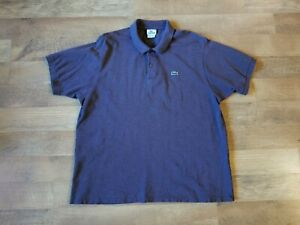 LACOSTE men's size 7 large brown polo shirt GREAT CONDITION