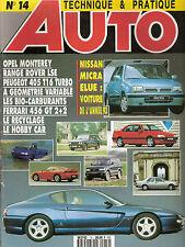 """REVUE MAGAZINE AUTOMOBILE """" AUTO TECHNIQUE ET PRATIQUE """" N°14 NISSAN MICRA OPEL"""