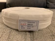 50m 4-Faltenband 1:3 Weiß 50mm breit Gardinenband Gardinenzubehör
