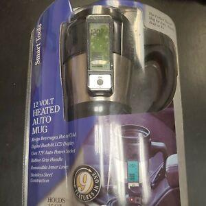 Smart Tools 12 Volt Heated Auto Mug Holds 16oz Travel New
