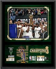"Milwaukee Bucks 12"" x 15"" 2021 NBA Finals Champions Team Sublimated Plaque"