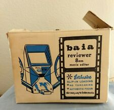 Baia 8 MM Movie Film Editor R-8-120 Viewer W Slip In Loading And Extras Original