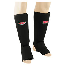 MRX Shin Instep Guards Kickboxing MMA shin pad Leg & Foot Protector Black Medium