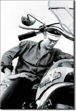 "2"" X 3"" ELVIS PRESLEY ON MOTORCYCLE REFRIGERATOR MAGNET NEW"