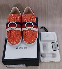 GUCCI Women's Shoes Size 7 orange Fashion Sneakers EU 37
