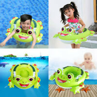 Green Frog Inflatable Float Swiming Ring Seat  Baby Infants Kids Child Swimming