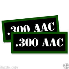 """300 AAC Ammo Can 2x Labels Ammunition Case 3""""x1.15"""" stickers decals 2 pack"""