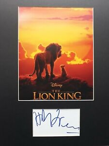 """HANS ZIMMER  AUTOGRAPH SIGNED CARD ( 10"""" X 8"""" PHOTO) *THE LION KING* COA 55"""