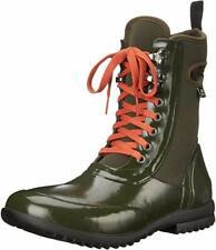 Bogs Women's SZ 10 Sidney Lace Solid All Weather Rain Boot, Dark Green 71771 []