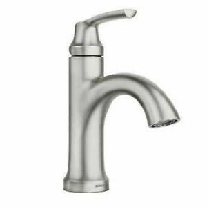 Moen Wellton One Handle Spot Resist Brushed Nickel Bathroom Faucet