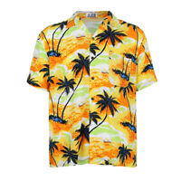 Men's Hawaiian Shirt Palm Tree Stag Beach Party Holiday Aloha Fancy Dress