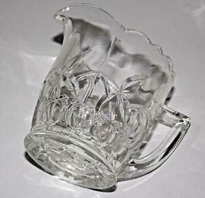 Clear Depression Glass Crown Crystal Series 35 No.3560 Creamer / Milk Jug Cherry