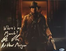 "Roger CLARK ""ARTHUR MORGAN"" AUTOGRAPHED 11X14 Photo RED DEAD BECKETT BAS COA 53"