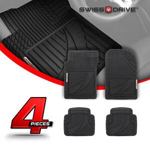 Swiss Drive Premium Heavy-Duty Car Floor Mats PVC TACTICAL BLACK 4 Pieces