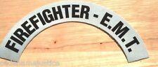 FIREFIGHTER-E.M.T.  REFLECTIVE FIRE HELMET CRESCENT DECALS - A PAIR!