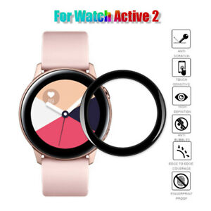 Full Coverage Soft Fiber Glass Screen Protector For Samsung Galaxy Watch Active2
