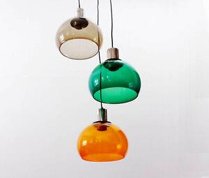 ITALIAN CASCADING CHANDELIER PERSPEX PENDANT LAMP 1960S STILNOVO DESIGN VINTAGE