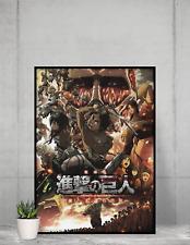 Attack on titan Poster NEW season 4 Manga Art premiem print design Size A4 A3 A2