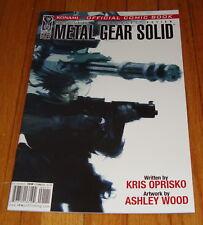 2004 Metal Gear Solid #1 1st Print IDW Konami Ashley Wood Kris Oprisko