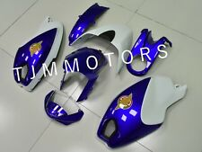 For Ducati Monster 696 796 1100 ABS Injection Mold Bodywork Fairing Blue White