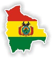 Sticker Silueta Bolivia Mapa Bandera Para Parachoques Guitarra Patineta Locker Tablet