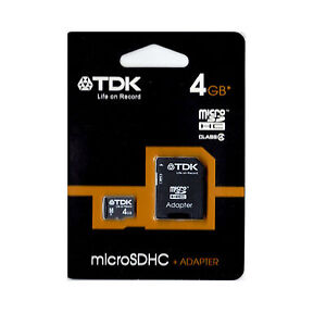 TDK MicroSD 4GB MicroSDHC 4GB Transflash Camera Mobile Tablet microsd micro SD