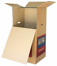 2 x PORTABLE WARDROBE MOVING BOXES, PORT A ROBE CARDBOARD PACKING REMOVALIST